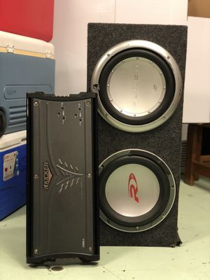 Subwoofer and amplifier (R12/Punch subs) for Sale in Tacoma, WA