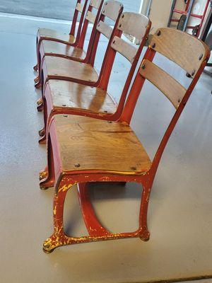 Vintage schoolhouse chairs for Sale in Menifee, CA