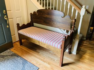 Solid Wood Bed Bench Seat for Sale in Redmond, WA