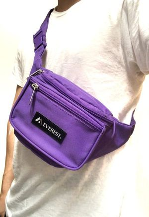Brand NEW! Purple Waist/Shoulder/Crossbody/Side Bag/Fanny Pack/Pouch For Everyday Use/Work/Shopping/Hiking/Biking/Gifts $9 for Sale in Carson, CA