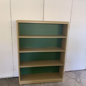 Wooden bookshelf (painted tan and green) for Sale in San Ramon, CA
