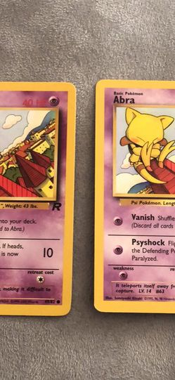 Pokemon ABRA Team Rocket 2000 English Card #49/82 for Sale in Cypress,  TX