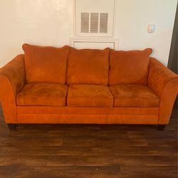 Burnt Orange Suede Couch Set for Sale in Nashville,  TN