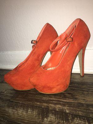 Orange heels for Sale in Orlando, FL