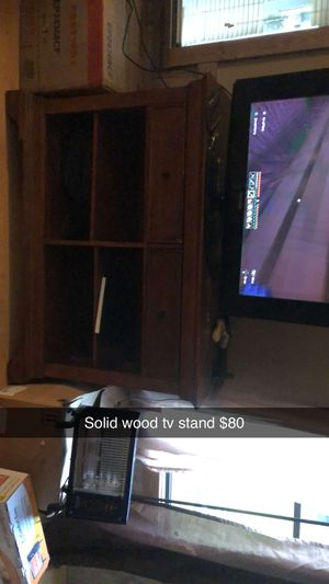 Wood TV stand for Sale in Jesup, GA