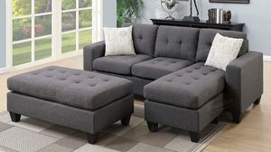 Small space sectional with ottoman for Sale in Fresno, CA