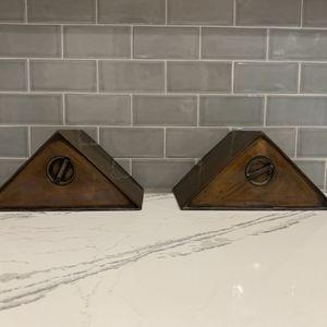 Vintage Triangular Copper Bookends for Sale in Seminole, FL