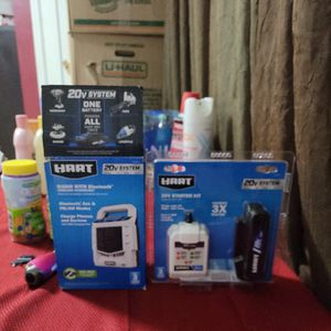 Hart 20v Radio With Bluetooth And Battery N Charger for Sale in Aurora, CO