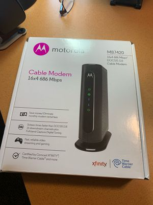 Motorola modem for Sale in Sterling Heights, MI