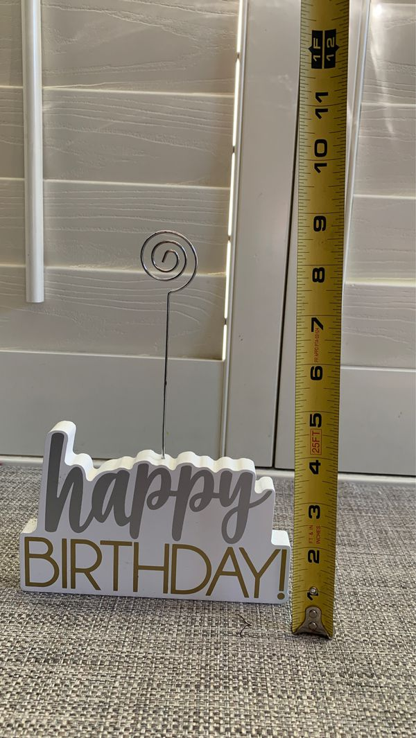 HAPPY BIRTHDAY PHOTO HOLDER