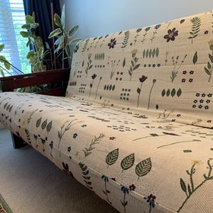 Queen Size Cherry Wood Futon for Sale in Clifton, VA