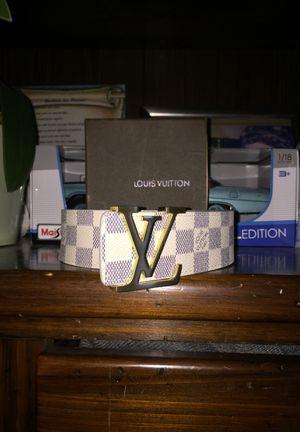 White Louis Vuitton belt for Sale in Collinsville, IL
