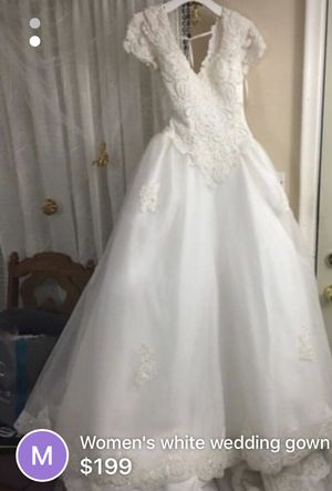 Wedding Dress Gown with Veil and Crown for 199.00 for Sale in Westchester, IL