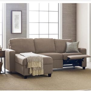 Brand New Serta Palisades Reclining Sectional Couch with Storage Ottoman for Sale in Miami Beach, FL