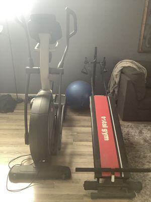 NordicTrack elliptical and Total Gym set for Sale in Glendale, AZ