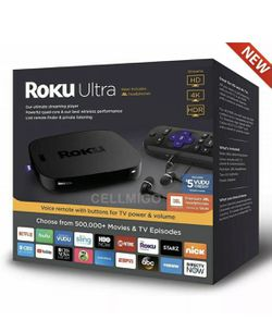 Roku Ultra 4K HDR Streaming Player with JBL headphones - Black (4661RW) for Sale in Fort Myers,  FL
