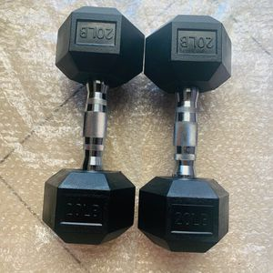 20 pound dumbbell weight set 💪💪 NEW 40 pound total dumbbell weight set for Sale in Hacienda Heights, CA