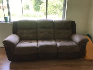 Brown Super Comfortable Reclining Couch for Sale in Federal Dam, MN