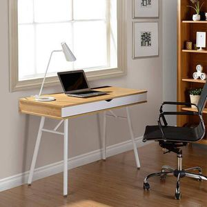 Cute modern white and pine desk for Sale in Seattle, WA