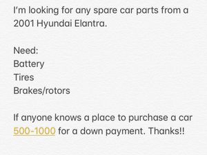 I am looking for a car or parts for Sale in North Versailles, PA