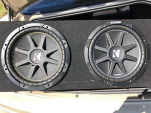 "(2) 12"" KICKER Comp + Sealed Subwoofer Box for Sale in Miramar, FL"