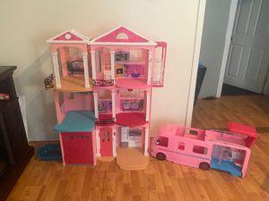 Barbie Dream House/Barbie Dream Camper for Sale in Brockton, MA