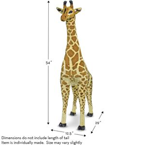 "Melissa & Doug Large Giraffe 29"" x 12 "" x 54""H plush toy for Sale in Houston, TX"