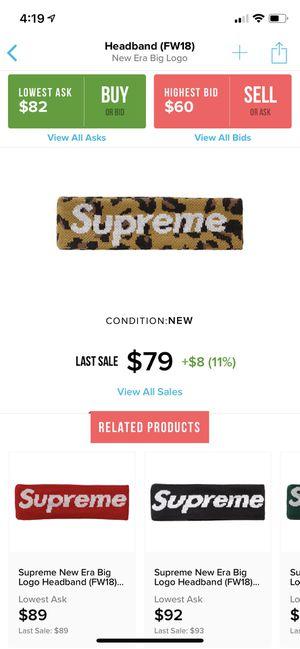 Supreme Leopard Print Headband DS for Sale in Phoenix, AZ