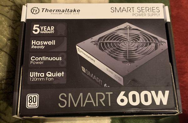 ThermalTake 600 watt 80 plus certified non modular power supply