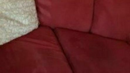 Red Couch With Pillows for Sale in Cedar Creek,  TX