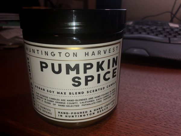 Pumpkin spice vegan soy candle