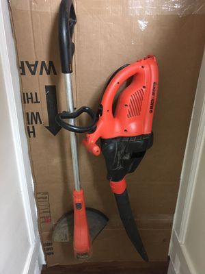 Black & Decker electric weed eater and leaf blower for Sale in Lorton, VA