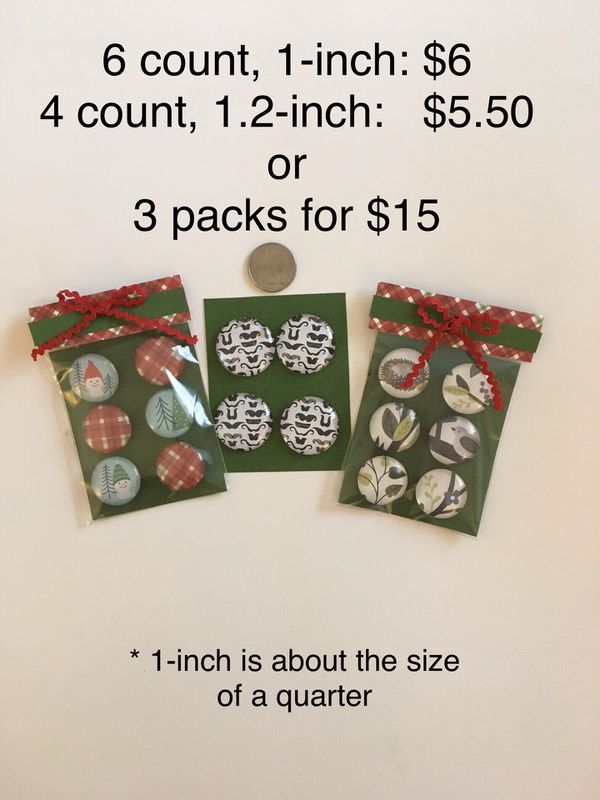 Handmade Glass Magnets, hostess gift, stocking stuffers