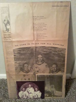 """Apollo 11 newsprint """"Own a part of history """" for Sale in Houston, TX"""