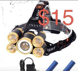 New 5 lights rechargeable headlamp for Sale in Whittier, CA