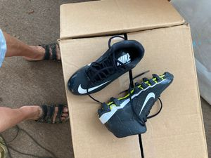 Cleats Nike size 3 .5 $5.00 brand new boys short outfit 5.00 boys outfit 500 both are size 4t Shoes size 7 1/2 Yoki new 10.00 for Sale in Lakeland, FL
