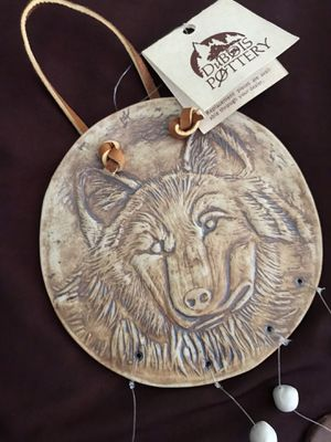 DuBois Pottery Wind Chimes Wolf for Sale in Huntington Beach, CA