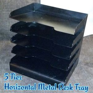 5 Tier Horizontal Metal Desk Tray for Sale in Romeoville, IL