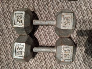 A pair of 35lb dumbbells for Sale in Frederick, MD