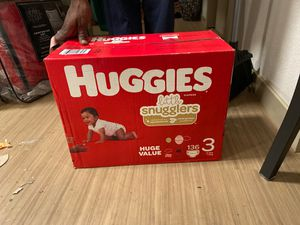 Huggies size 3 diapers for Sale in Lancaster, CA
