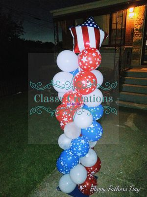 4th of July balloon column decorations for Sale in Chicago, IL