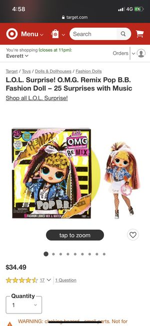 Brand new Lol remix omg doll for Sale in Lakewood, WA