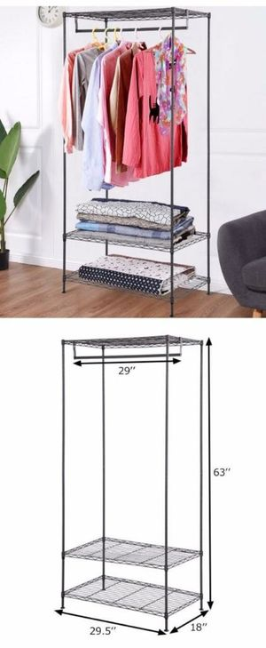 New in box 61 inches tall wardrobe clothes shoes closet organizer hanging stand rack storage organizer for Sale in Pico Rivera, CA