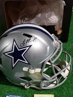 TROY AIKMAN Signed Full-Size Dallas COWBOYS Speed replica Helmet w/ Beckett COA for Sale in Cibolo,  TX