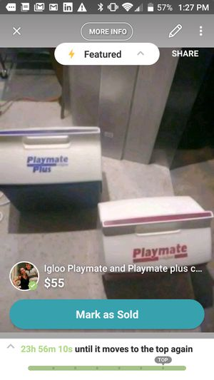 igloo Playmate and Playmate Plus Cooler duo for Sale in MD CITY, MD