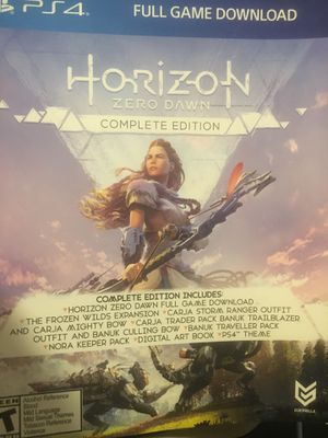 Horizon zero dawn/God Of War full game. for Sale in Silver Spring, MD