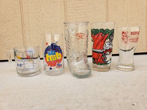 Collection of Vintage Glasses - Bill Johnson, Bugs, Pizza Hut, Olympics, Pepsi for Sale in Buckeye, AZ