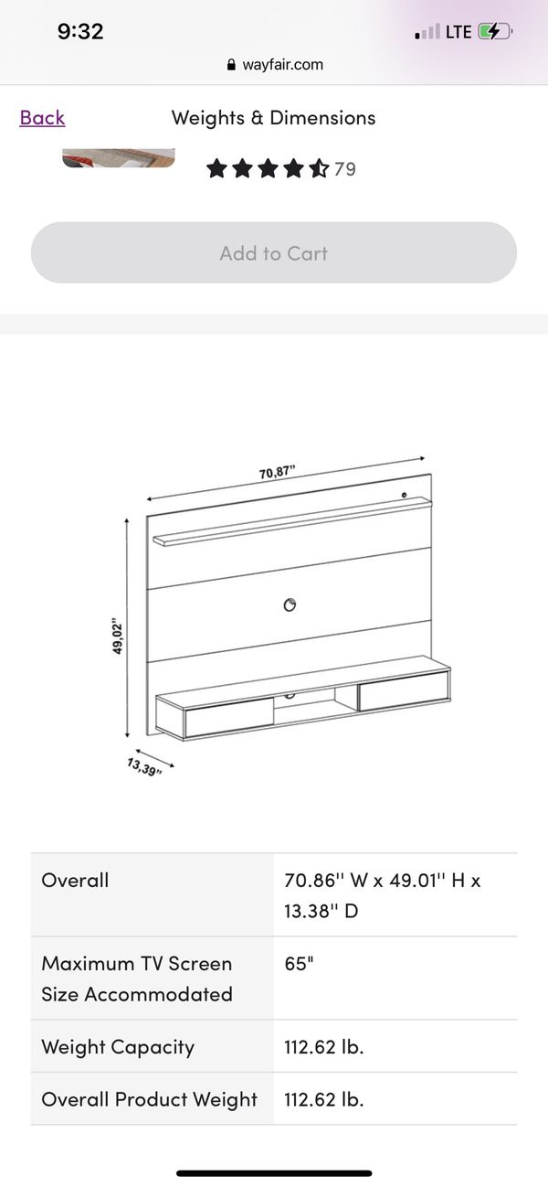 TV Stand For Tv Up To 65""