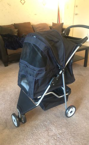 Dog Stroller (BRAND NEW-Never Used) )/ Black and Navy for Sale in Baltimore, MD