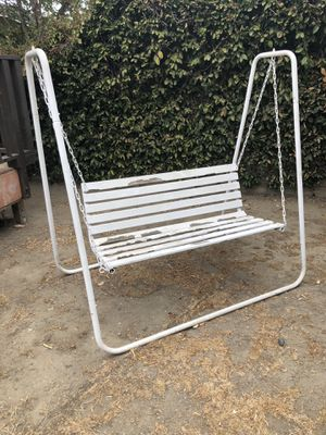 Wooden/Iron love seat patio swing for Sale in Los Angeles, CA